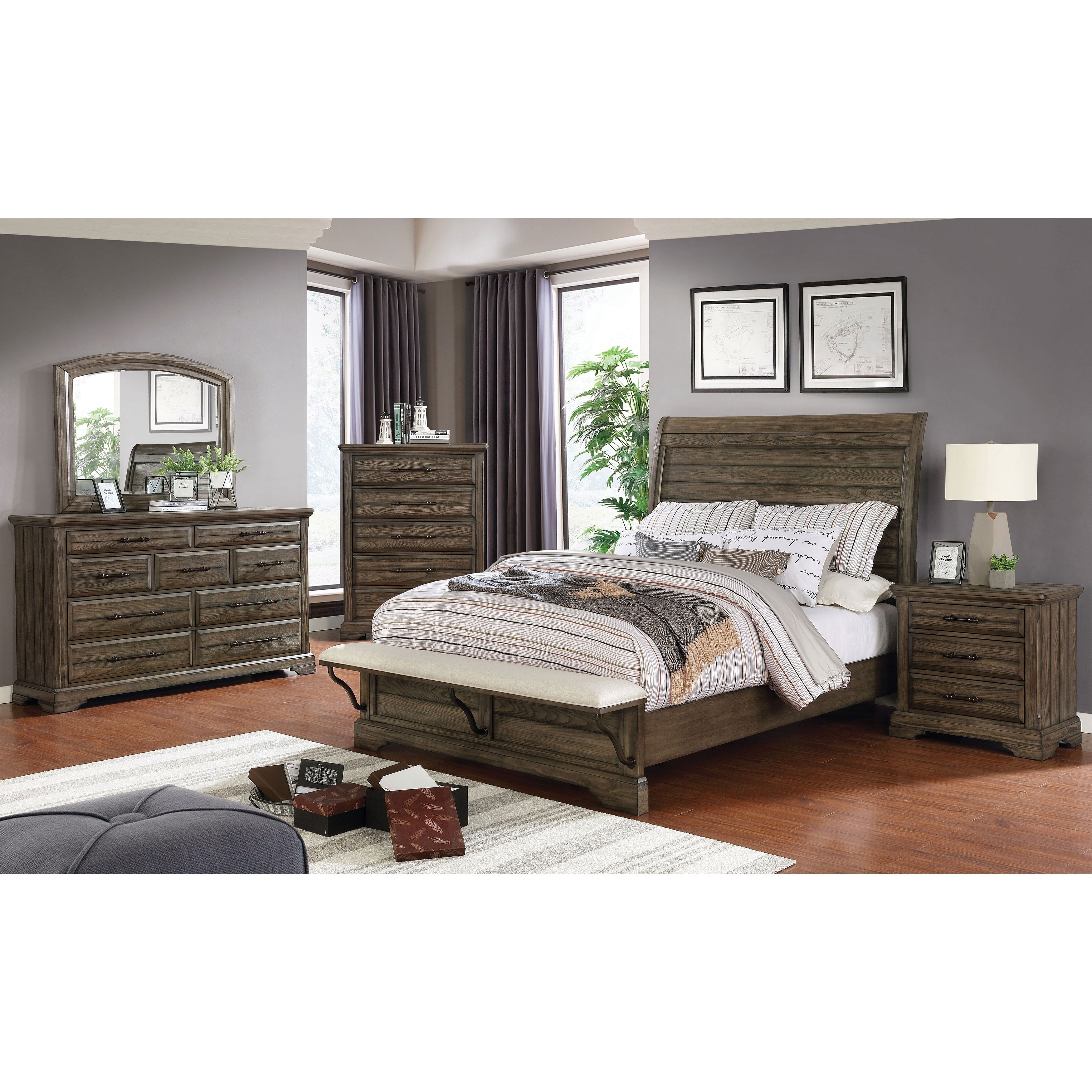 Furniture Of America Kete 3 Piece Bed