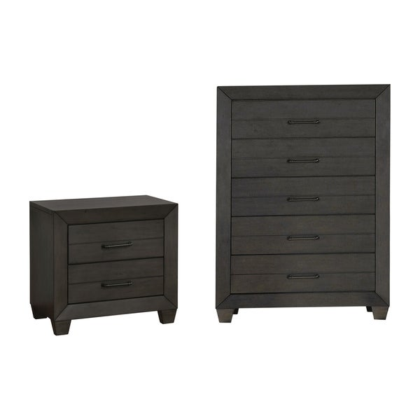 Furniture of America Torm Beige 2-piece Nightstand and Chest Set