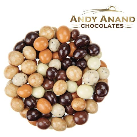 Andy Anand Belgian Chocolate coated Espresso Coffee Bridge of 5 Flavors 1lbs