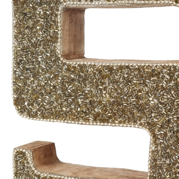 Decoriny Beaded Decorative Letters, Handmade by Skilled Artisans