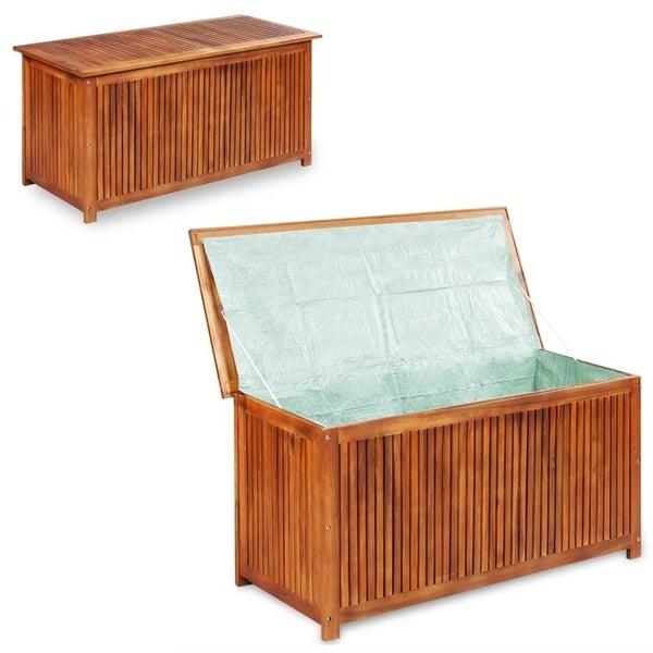 "Garden Storage Box 59""x19.7""x22.8"" Solid Acacia Wood"