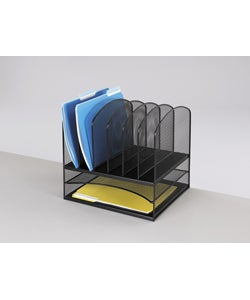 Safco Mesh 8-section Desk Organizer