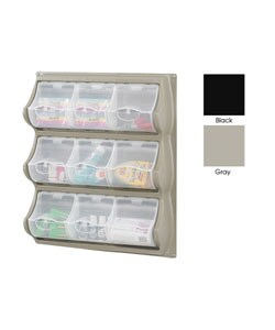 Safco 9-Compartment Panel Bin