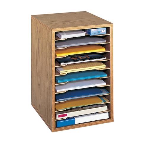 Safco Wood Vertical Desktop Sorter