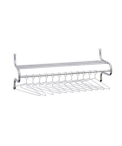Safco 48-inch Wide Shelf Rack with Hangers