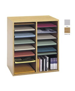 Safco Wood Adjustable Literature Organizer