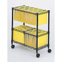 Shop Safco Onyx Mesh Mobile Double File Cart Free