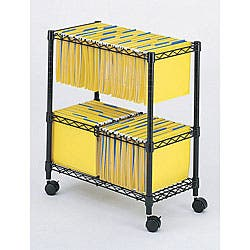 Safco Two Tier Rolling File Cart