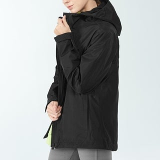 Link to Women's Windproof Hooded Rain Jacket for Outdoor Hike Black Similar Items in Women's Outerwear