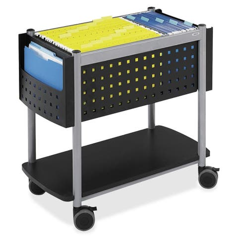 Safco Scoot Black Open-top Mobile File Cart with Swivel Casters