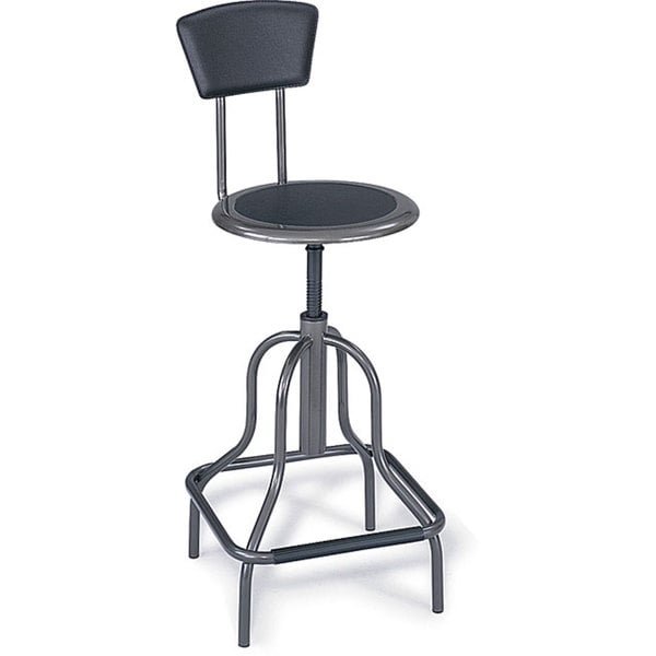 Safco Diesel Series High Base Stool with Back