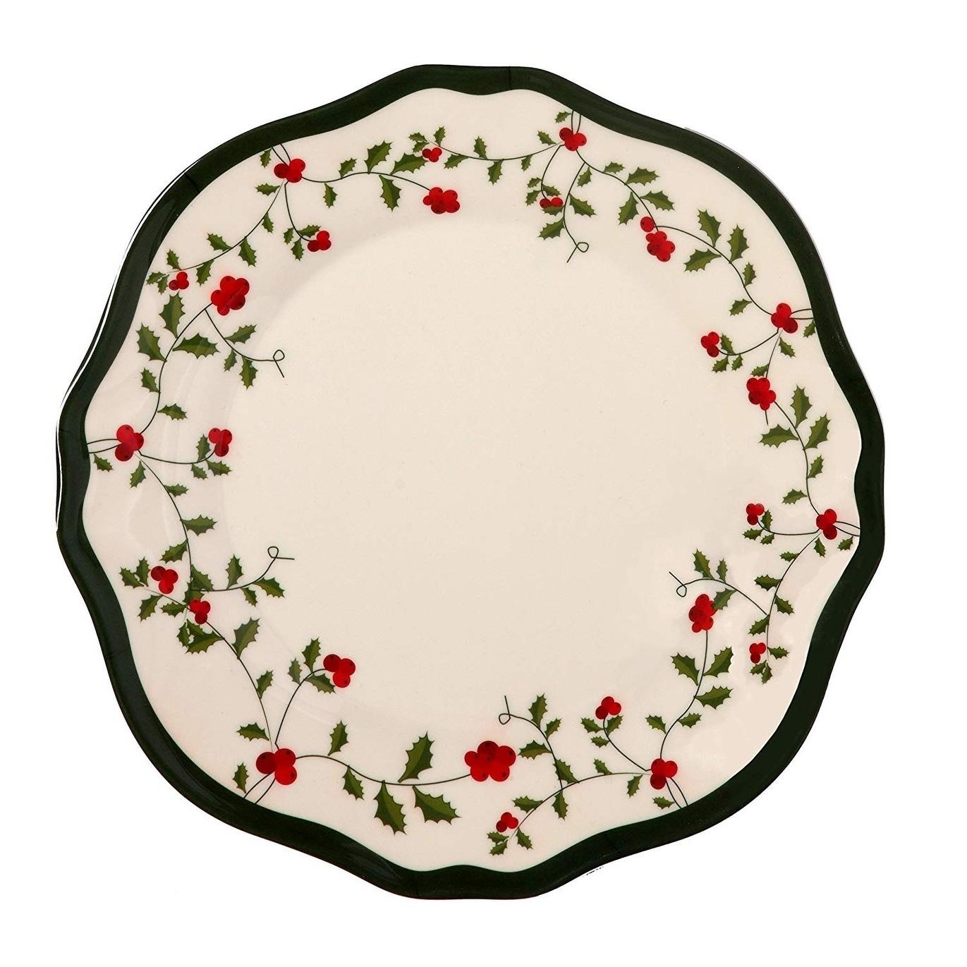 Melange 6 Pcs Melamine Salad Plate Set Holiday Berry Collection Shatter Proof Melamine Salad Plates Overstock 30375996