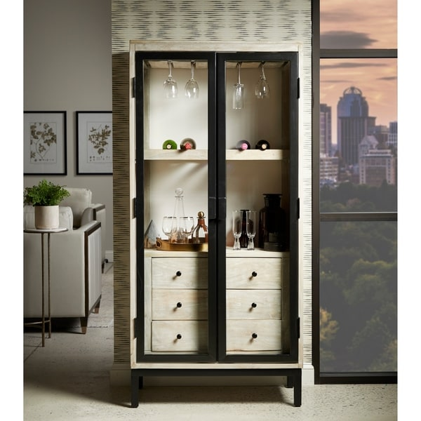 Eclectic Driftwood Brown 3-drawer Bar Cabinet. Opens flyout.