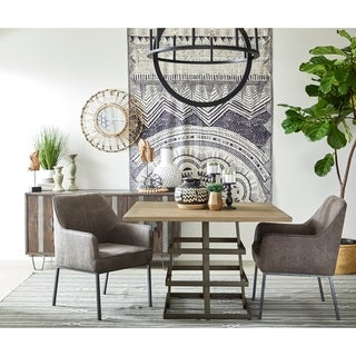 Link to Warm Grey Upholstered Metal Leg Accent Chair Similar Items in Dining Room & Bar Furniture