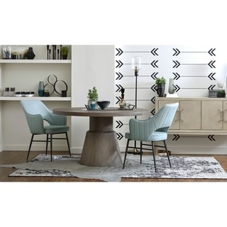 Link to Sea Glass Blue Upholstered Open Back Dining Chair Similar Items in Dining Room & Bar Furniture
