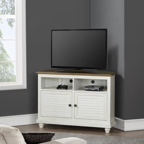 Two-tone Corner TV Stand