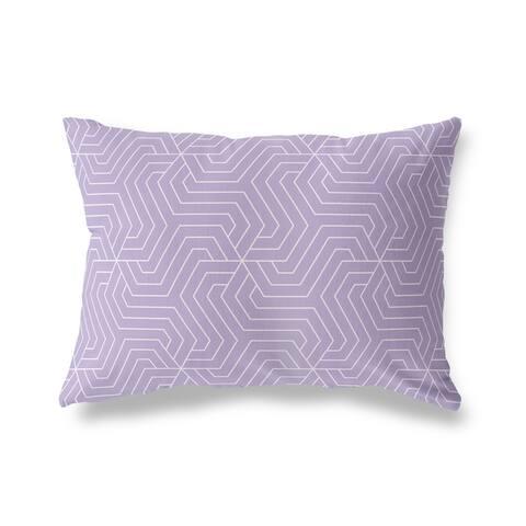 BRICKLE PURPLE Lumbar Pillow by Kavka Designs