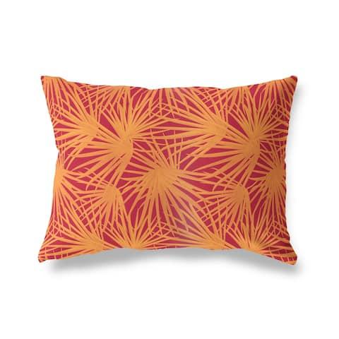 PALM BALM RED ORANGE Lumbar Pillow by Kavka Designs
