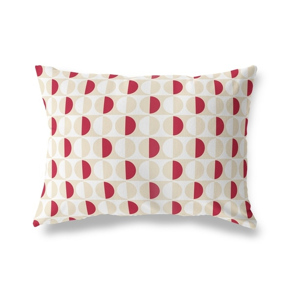 MOD SQUAD RED CREAM AND WHITE Lumbar Pillow By Kavka Designs