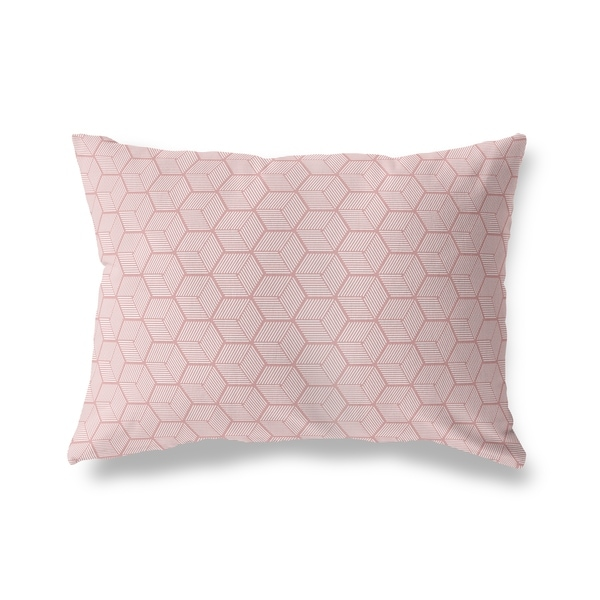GEOCUBE DARK PINK Lumbar Pillow By Kavka Designs