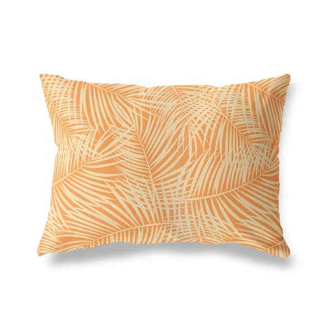 PALM PLAY ORANGE Lumbar Pillow by Kavka Designs