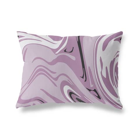 FABRIZIO PURPLE Lumbar Pillow by Kavka Designs