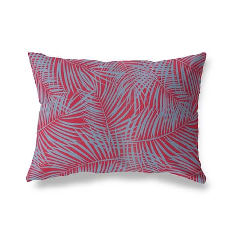 PALM PLAY RED BLUE Lumbar Pillow by Kavka Designs