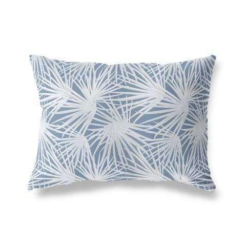 PALM BALM BLUE Lumbar Pillow by Kavka Designs