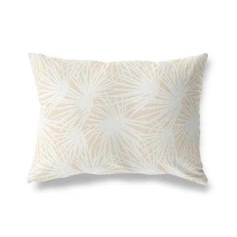 PALM BALM OATMEAL Lumbar Pillow by Kavka Designs
