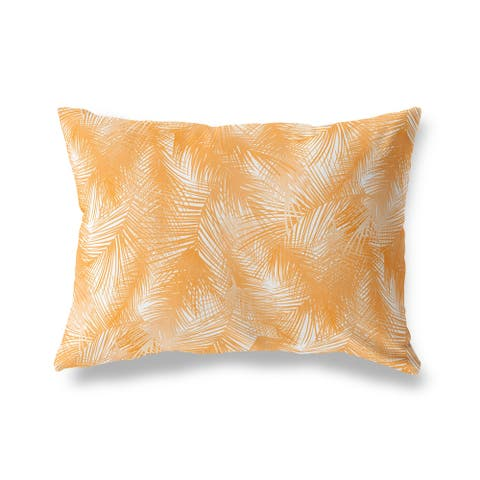 PALM CHEER ORANGE Lumbar Pillow by Kavka Designs