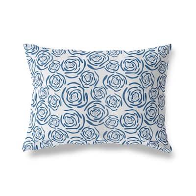 FLEUR BLUE Lumbar Pillow by Kavka Designs