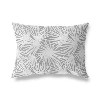 PALM BALM DARK GREY Lumbar Pillow by Kavka Designs
