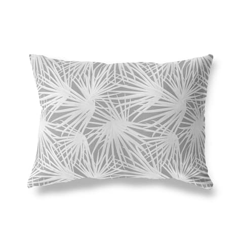 PALM BALM DARK GREY Lumbar Pillow by Kavka Designs