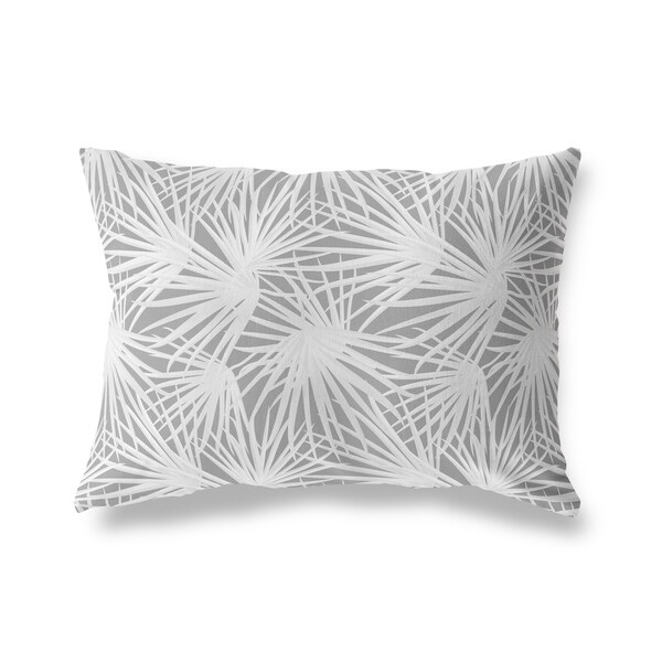 PALM BALM DARK GREY Lumbar Pillow by Kavka Designs. Opens flyout.
