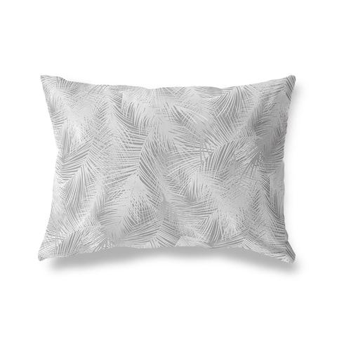 PALM CHEER GREY Lumbar Pillow by Kavka Designs