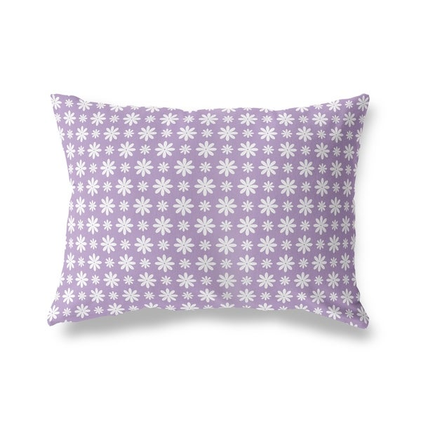 FLOWER SHOWER LAVENDER Lumbar Pillow By Kavka Designs
