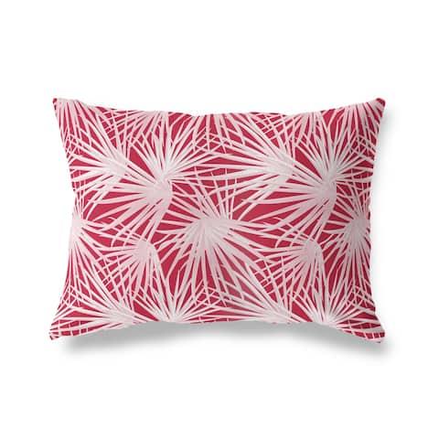 PALM BALM RED Lumbar Pillow by Kavka Designs