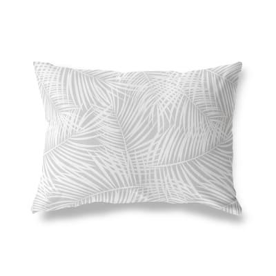 PALM PLAY GREY Lumbar Pillow by Kavka Designs