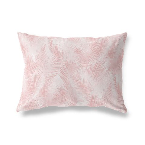 PALM CHEER PINK Lumbar Pillow by Kavka Designs