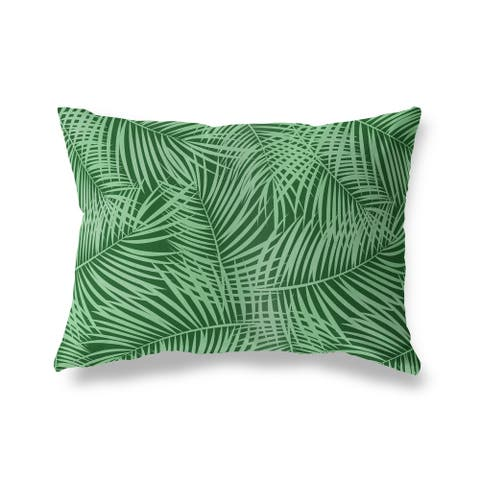 PALM PLAY GREEN Lumbar Pillow by Kavka Designs