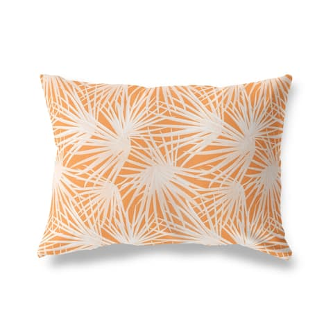 PALM BALM ORANGE Lumbar Pillow by Kavka Designs