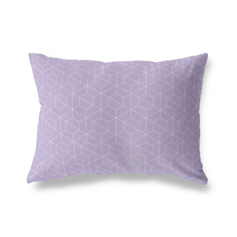 TRON PURPLE Lumbar Pillow by Kavka Designs