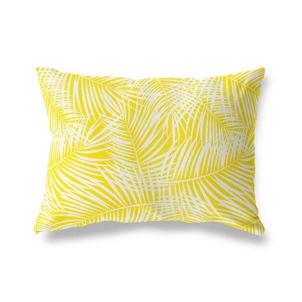 PALM PLAY YELLOW Lumbar Pillow By Kavka Designs