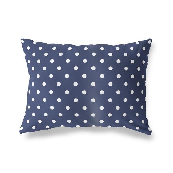 POLKA DOTS NAVY Lumbar Pillow By Kavka Designs