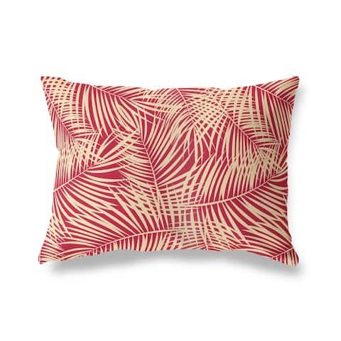 PALM PLAY RED Lumbar Pillow by Kavka Designs