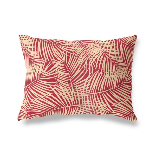 PALM PLAY RED Lumbar Pillow by Kavka Designs. Opens flyout.