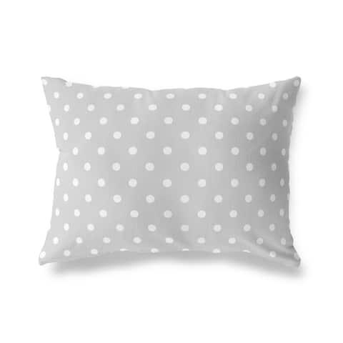 POLKA DOTS GREY Lumbar Pillow by Kavka Designs