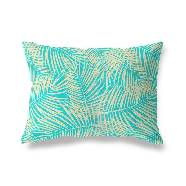 PALM PLAY TEAL Lumbar Pillow By Kavka Designs