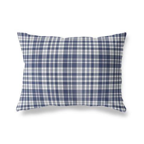 PLAYFUL PLAID NAVY Lumbar Pillow by Kavka Designs