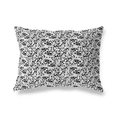 PLUMERIA WHITE Lumbar Pillow by Kavka Designs